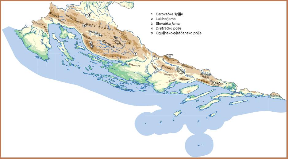 Karta Nizinske Hrvatske Karta
